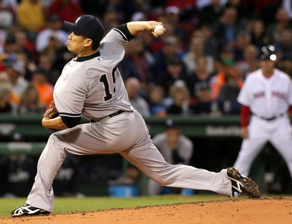 Yankees starter Masahiro Tanaka struck out seven and gave up seven hits and two runs in running his record to 3-0.