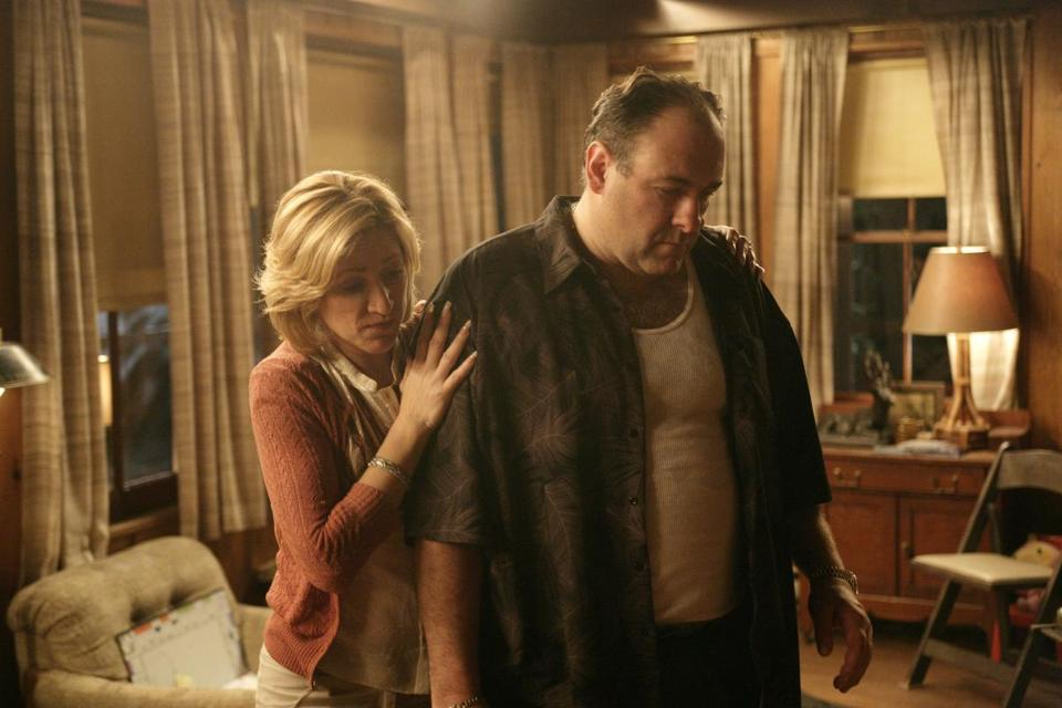 "A scene from ""The Sopranos"" on HBO."