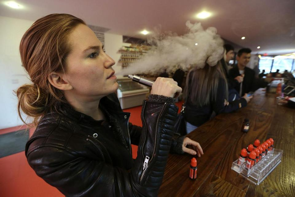 E-cigarettes are battery-powered devices that heat up nicotine-laced liquid, turning it into a vapor the user inhales.