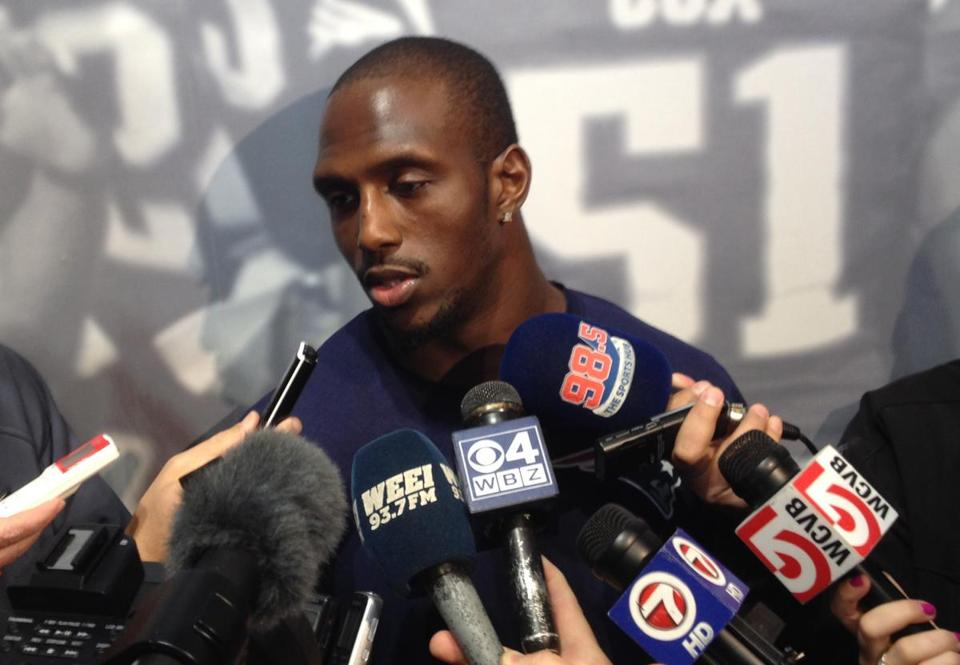 Devin McCourty spoke to reporters at Gillette Stadium on Thursday.