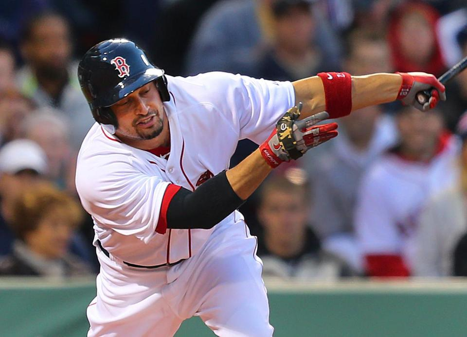 Shane Victorino went 1 for 5 with a double and a run in his return from the disabled list.