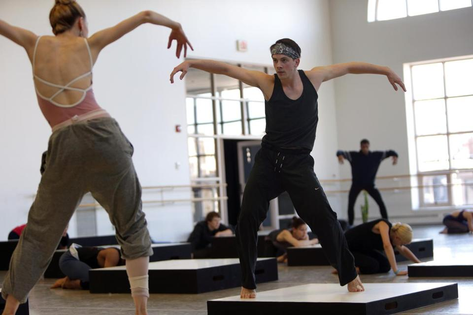 "Corps de ballet dancer Paul Craig (top) calls ""Cacti"" ""a test of our versatility"" that's ""super fun to rehearse."""