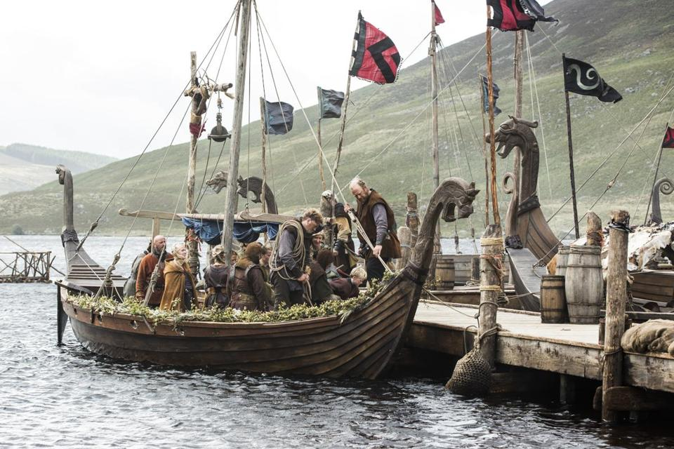 """Vikings"" tracks warriors on westward raids and shifting allegiances among leaders."