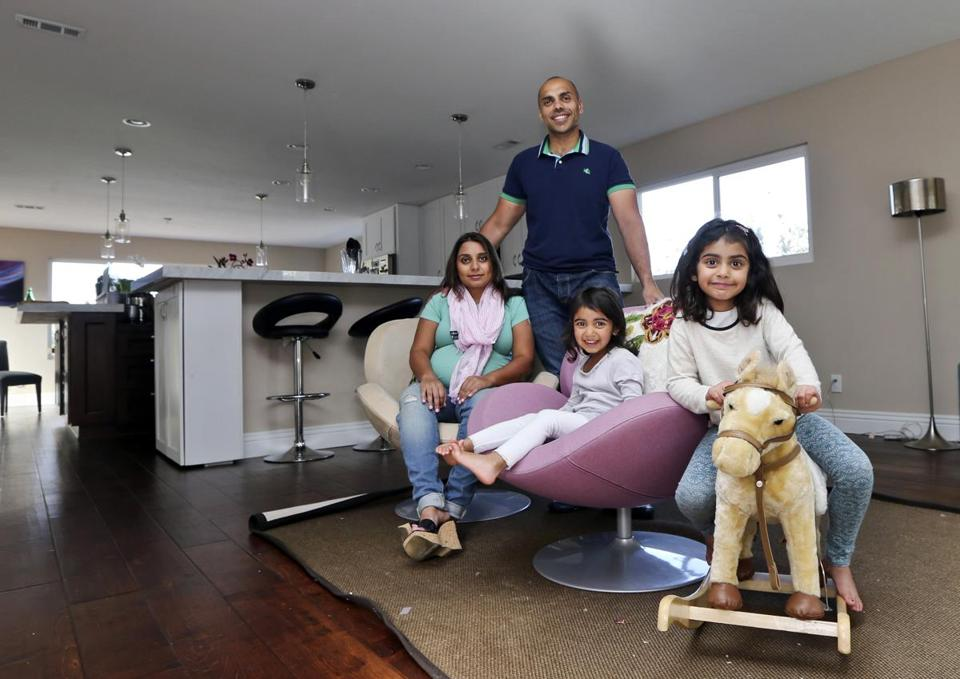 Imran and Aniqa Jaswal, with daughters Jayda and Arissa, bought their first house in La Jolla, Calif., where, they say, you can't find a house below jumbo mortgage prices.