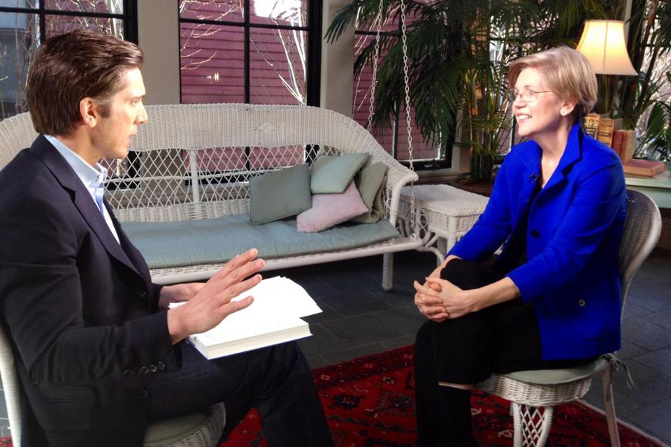 "Senator Elizabeth Warren spoke about her new book, ""Fighting Chance,"" this week with David Muir of ABC News."