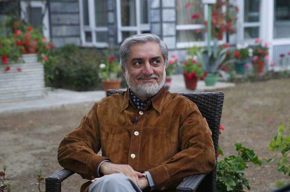 Afghan presidential candidate Abdullah Abdullah was interviewed at his residence in Kabul Thursday, April 24, 2014.