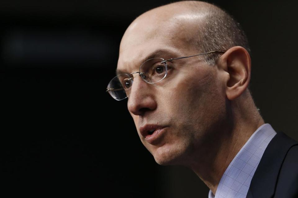 Adam Silver answered questions during a news conference Saturday.