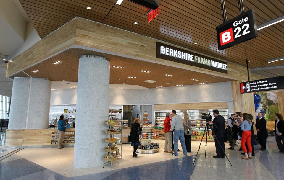 The new Berkshire Farms Market will debut in the refurbished Terminal B at Logan Airport Wednesday.