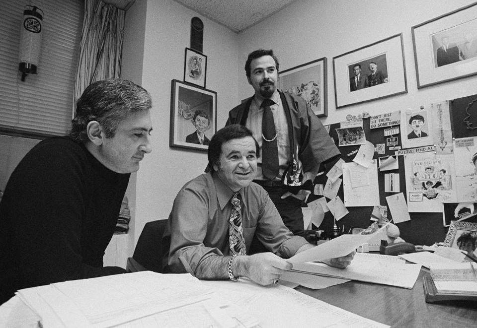 Mad magazine Editor Al Feldstein at the office in 1971.