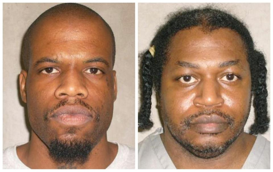 Clayton Lockett, left, and Charles Warner faced execution Tuesday night.