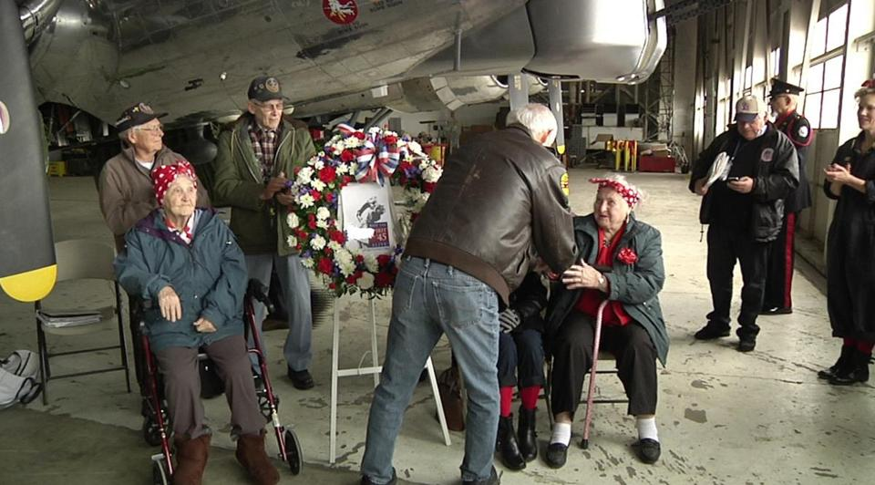 Yankee Air Museum chairman Ray Hunter honored women who contributed to the war effort at a ceremony last month.
