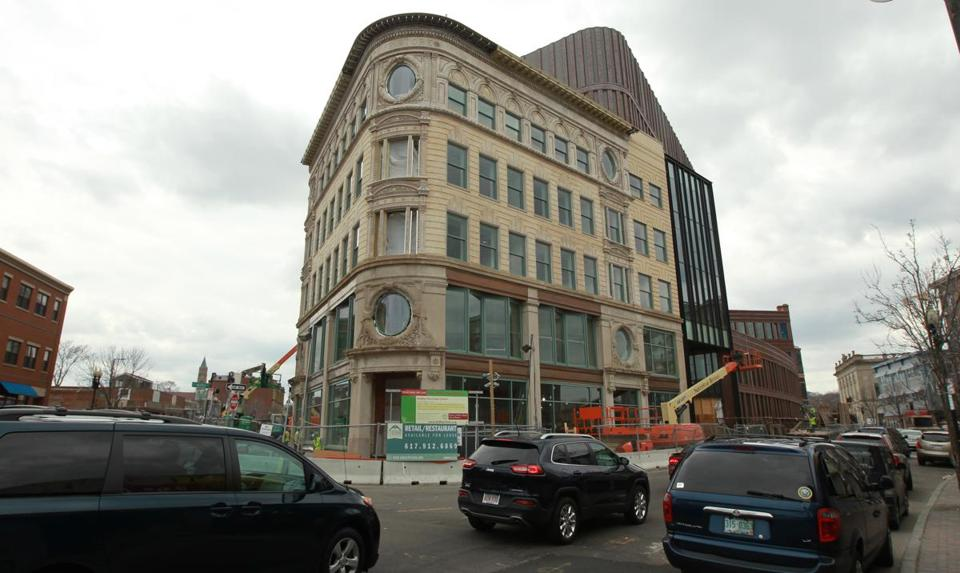 The Ferdinand Building under construction in Dudley Square.