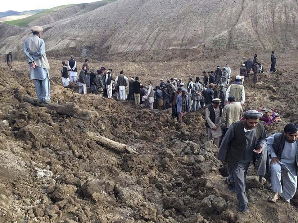 The mountainous area in Badakhshan province has experienced days of heavy rain, and the side of a cliff collapsed Friday.