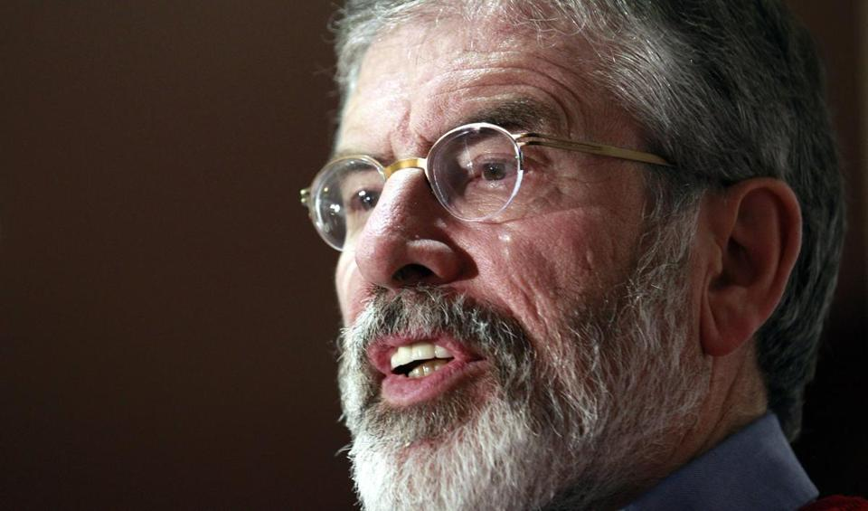 Gerry Adams is the leader of the biggest nationalist party in Northern Ireland.