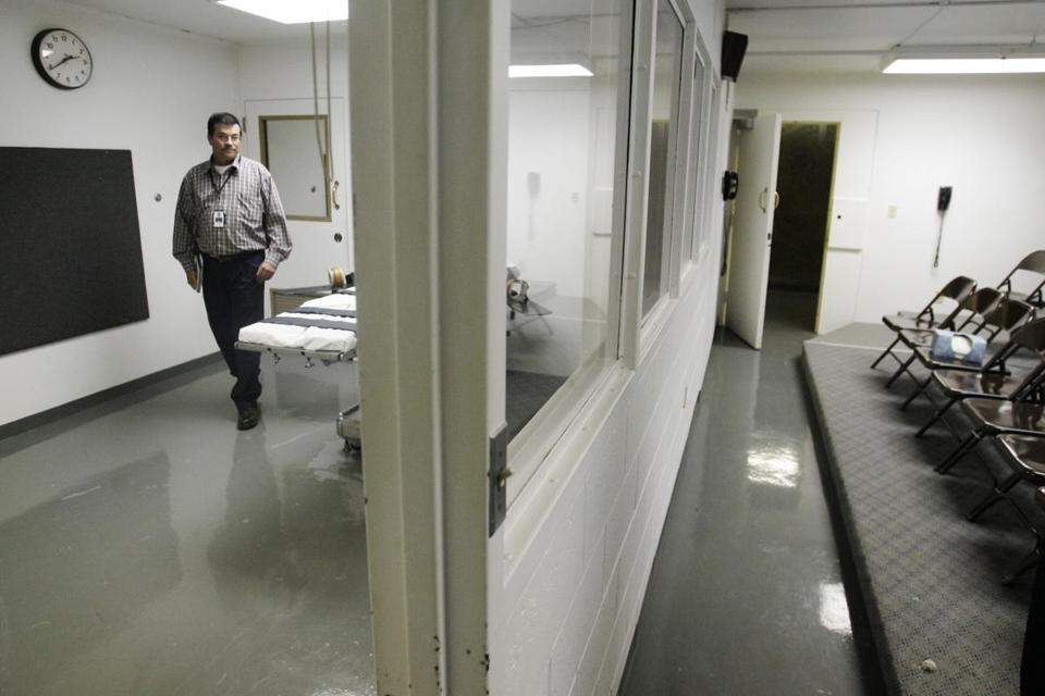 The execution chamber at Oklahoma State Penitentiary. The state is among those that carry out the most death sentences.