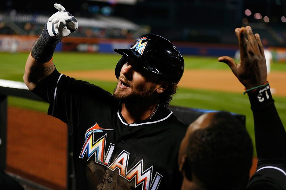 Jarrod Saltalamacchia is playing the role of veteran leader for the Marlins.