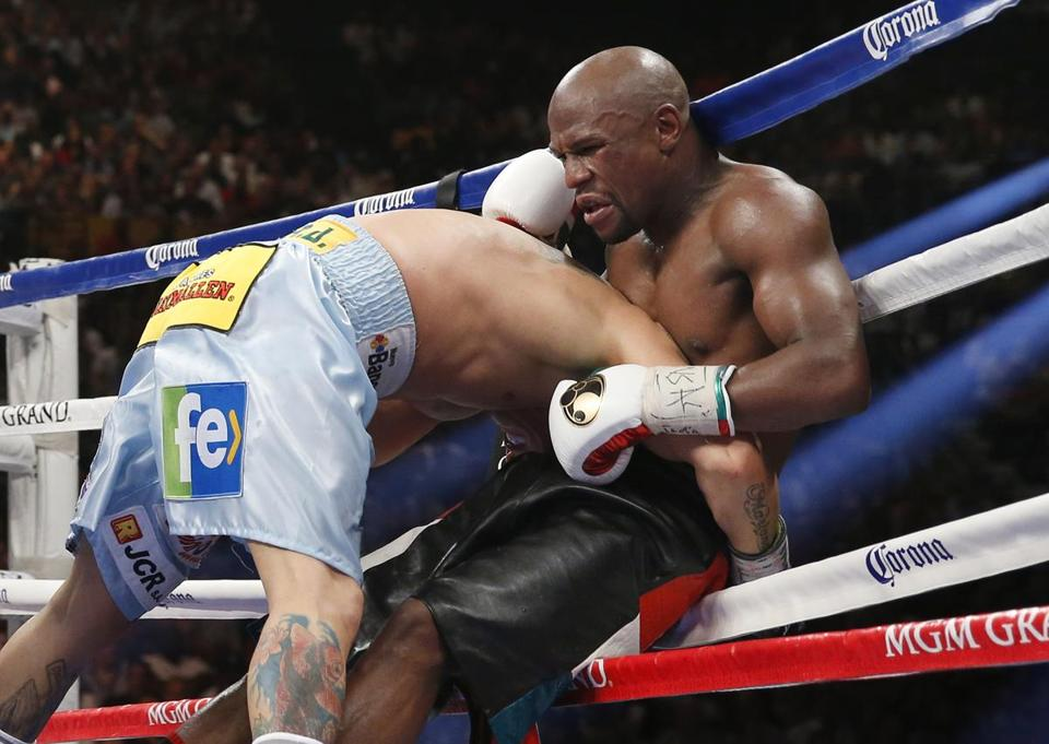 Marcos Maidana had Floyd Mayweather Jr. on the ropes all night, but Mayweather stood tall in the end.