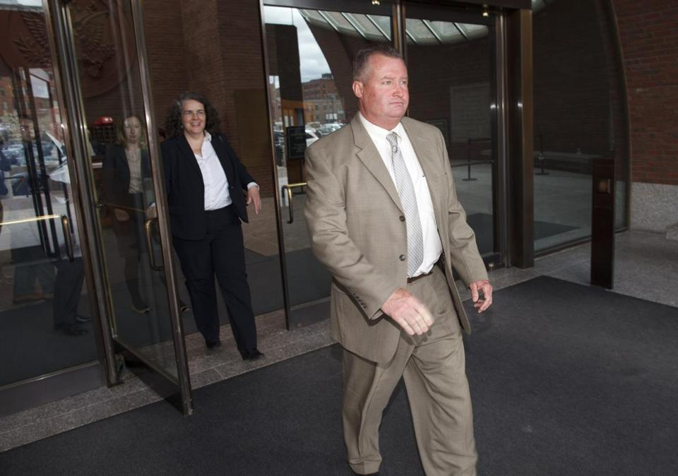 John J. O'Brien left the courthouse earlier in this lengthy trial.