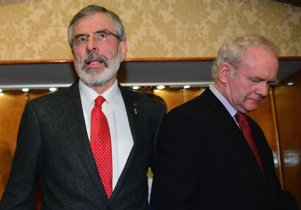 """I am innocent of any involvement in any conspiracy to abduct, kill, or bury Mrs. McConville,"" Gerry Adams said."