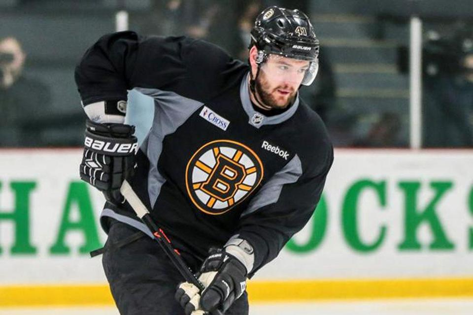 Bruins defenseman Andrej Meszaros stayed ready despite four games out of the lineup
