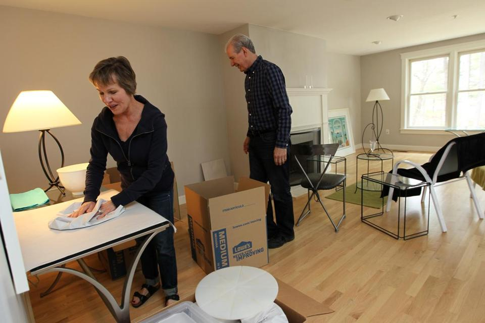 Sondra Hart and her husband, John Pouliot, packed up their lakefront condo in Lunenburg after selling it.