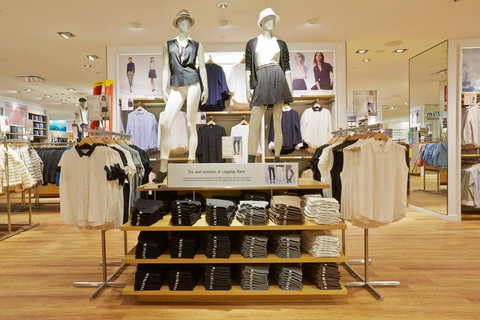 Uniqlo executives said the company aims to appeal to shoppers with quality-made clothing in a vast color palette.
