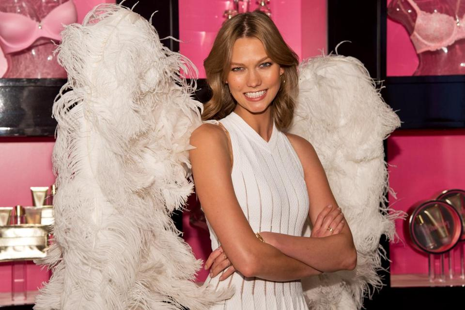 "Victoria's Secret Angel Karlie Kloss launched ""Heavenly"" at Victoria's Secret April 29 in Chicago, Ill."