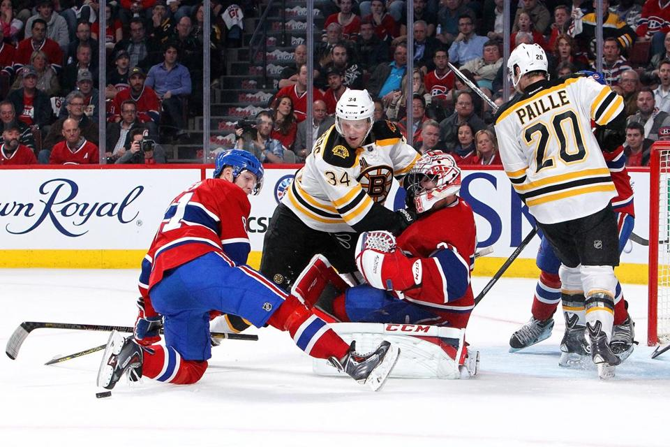 Montreal skaters have been making it a point to get in the path of Bruins shots. Francois Laplante/Getty Images