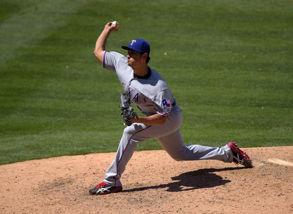 Rangers ace Yu Darvish said he is especially looking forward to facing former teammate A.J. Pierzynski Friday night.
