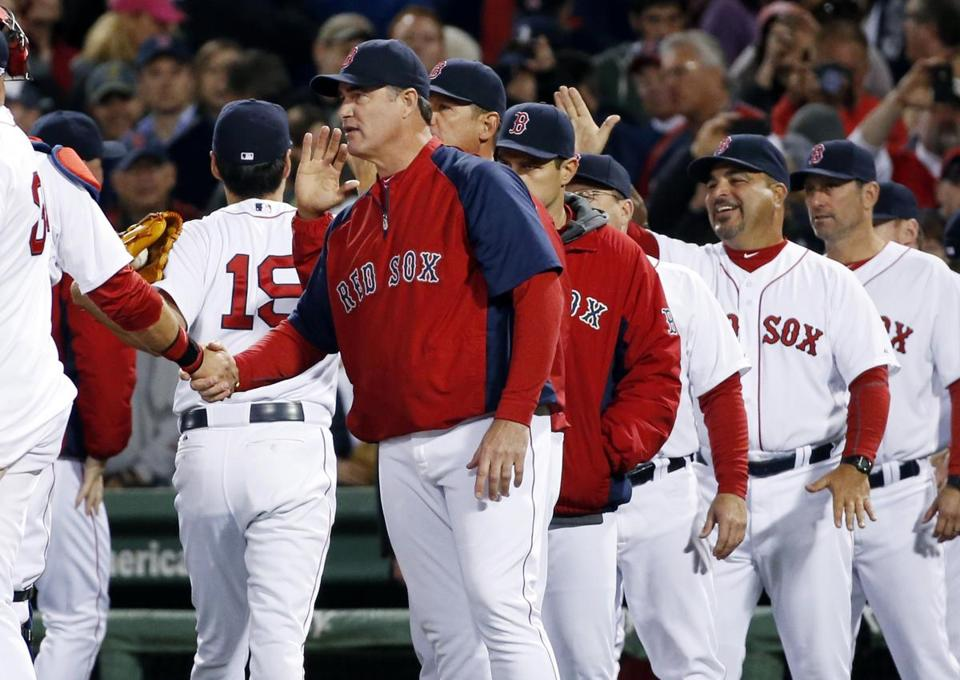 Wednesday's victory over Cincinnati made the Red Sox 17-17 on the season. AP Photo/Elise Amendola