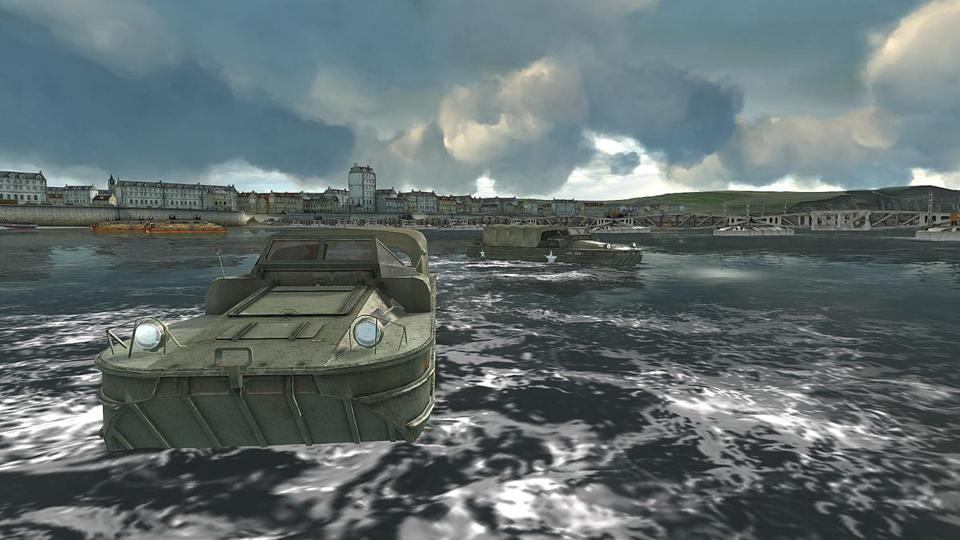 Higgins boats delivered troops and vehicles to the beaches of Normandy.