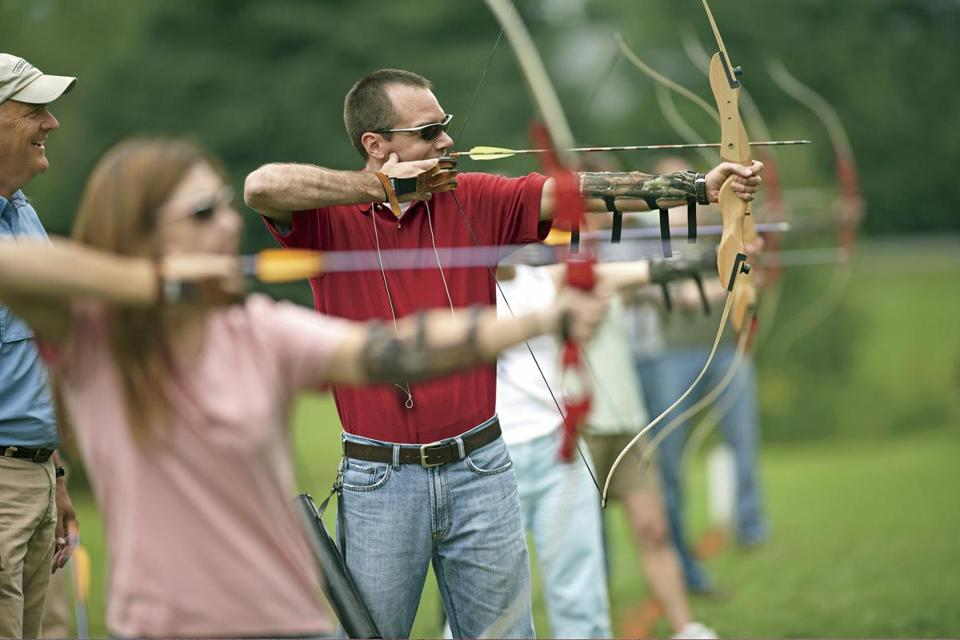 "Thanks to ""The Hunger Games,"" archery classes are filling up, like this one at the L.L. Bean Discovery School in Freeport, Maine."