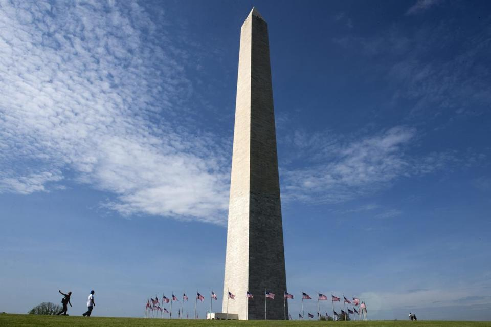 The Washington Monument reopened after nearly three years of repair.