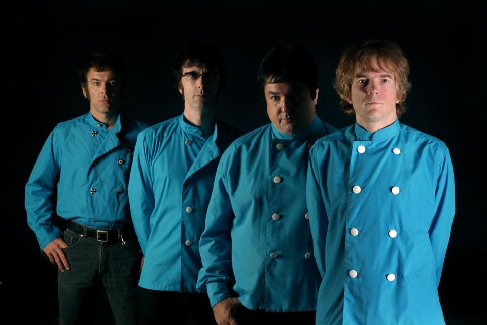 The Woggles (from left) are Dan Electro, Buzz Hagstrom, The Fleshammer, The Professor Mighty Manfred.