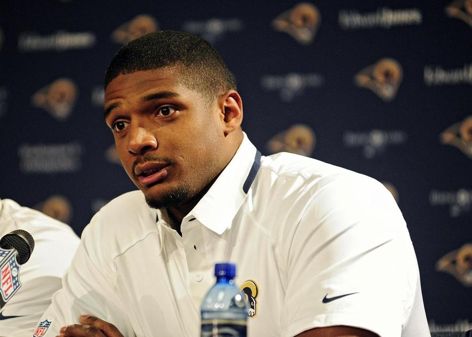 Michael Sam was drafted in the seventh round by the St. Louis Rams.