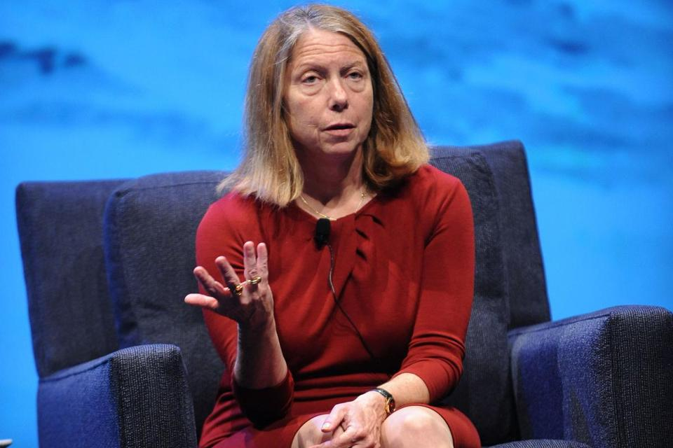 Jill Abramson, the first woman to serve in the position as top editor of The New York Times, replaced former executive editor Bill Keller in 2011.