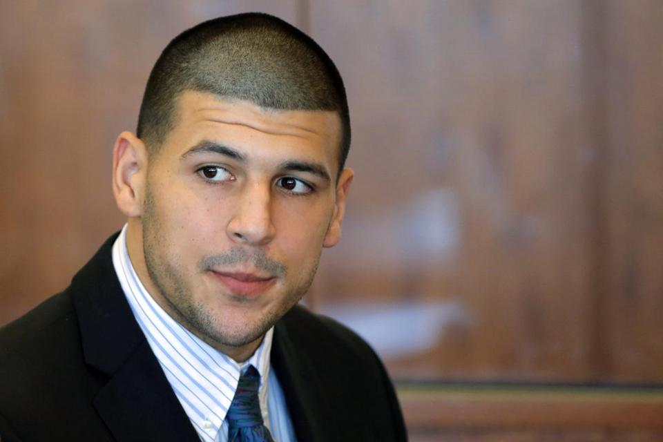 Whether evidence from the Suffolk County case against Aaron Hernandez (shown in October) will be a factor in the Bristol County trial is a key question.
