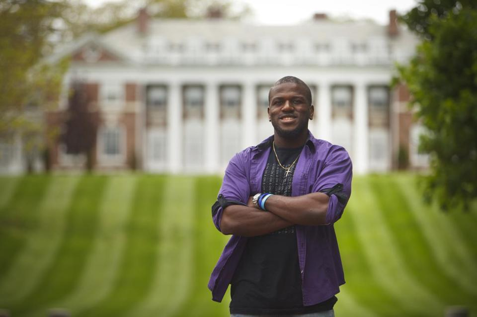 Johnny Joseph came to United States from the Democratic Republic of Congo as a 12-year-old. He is graduating from Stonehill College, with plans to become a dentist.