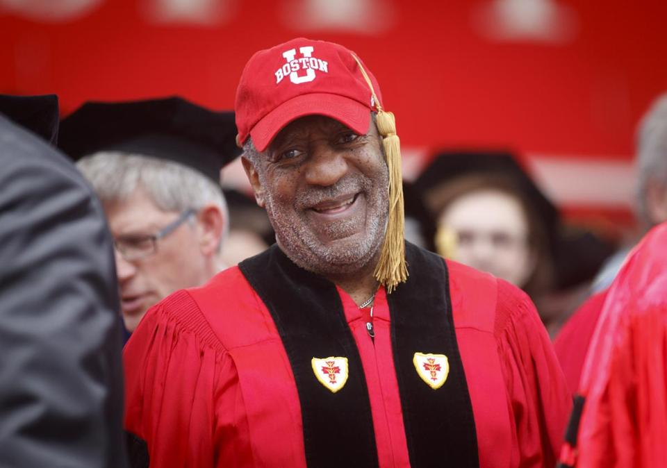 Comedian Bill Cosby at Boston University's 2014 commencement.