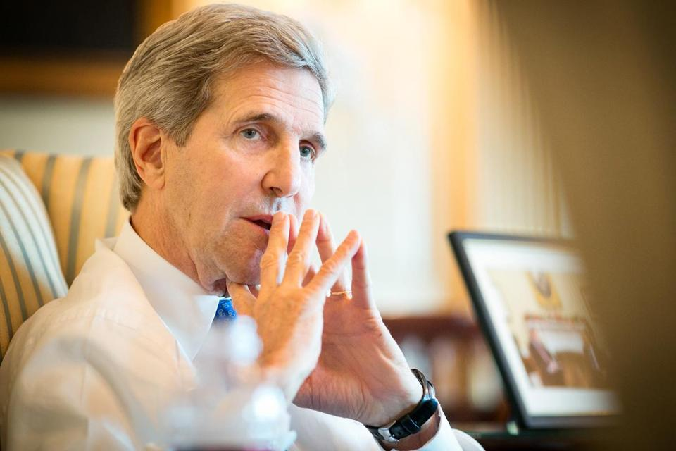 """We've gone from an excess of interventionism probably to an excess of isolationism — an instinct to want to button up in this global world and, you know, not necessarily exercise our leadership,"" John Kerry said. ""I don't think we can afford to do that."""