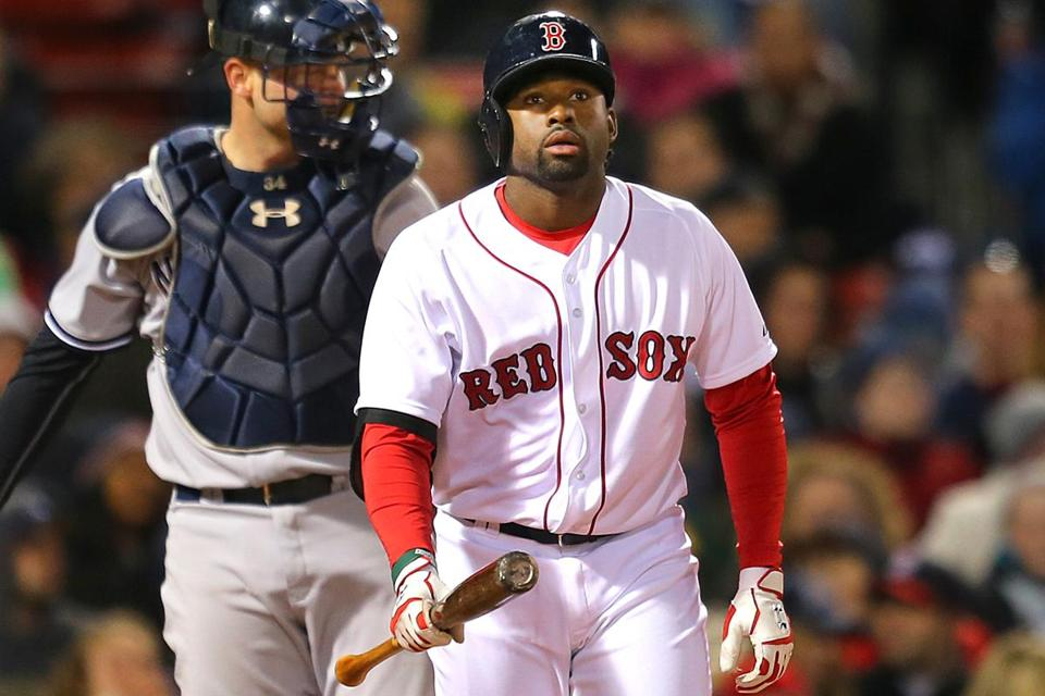 Jackie Bradley Jr. isn't the only young Red Sox player struggling at the plate.