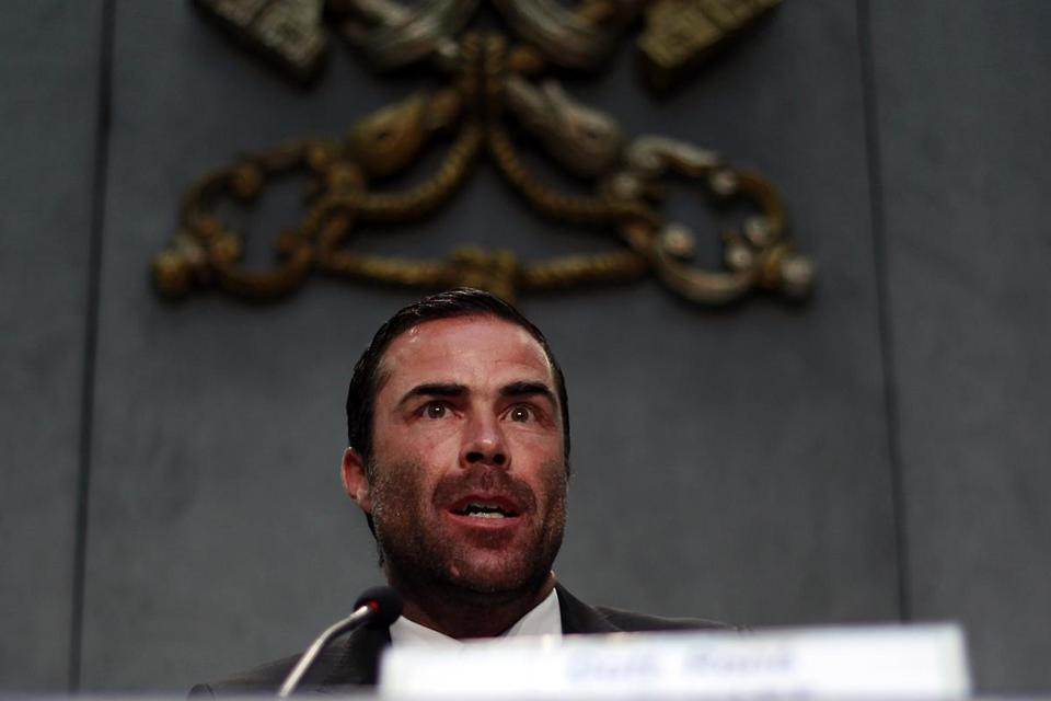 René Bruelhart, a Swiss anti-money laundering expert who directs the Financial Information Authority, spoke at the Vatican on Monday.