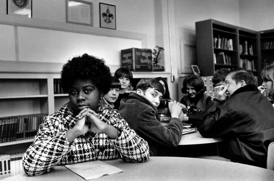 Linda Brown Smith, shown in an undated photo, was a third grader when her father started a class-action suit in 1951 against the Board of Education of Topeka, Kan., which led to the US Supreme Court's 1954 landmark decision against school segregation.