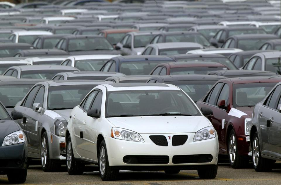 A Pontiac G6 at the General Motors Orion Assembly plant in Michigan. GM is recalling 2.4 million vehicles in the United States, including G6 vehicles from 2005 to 2008.