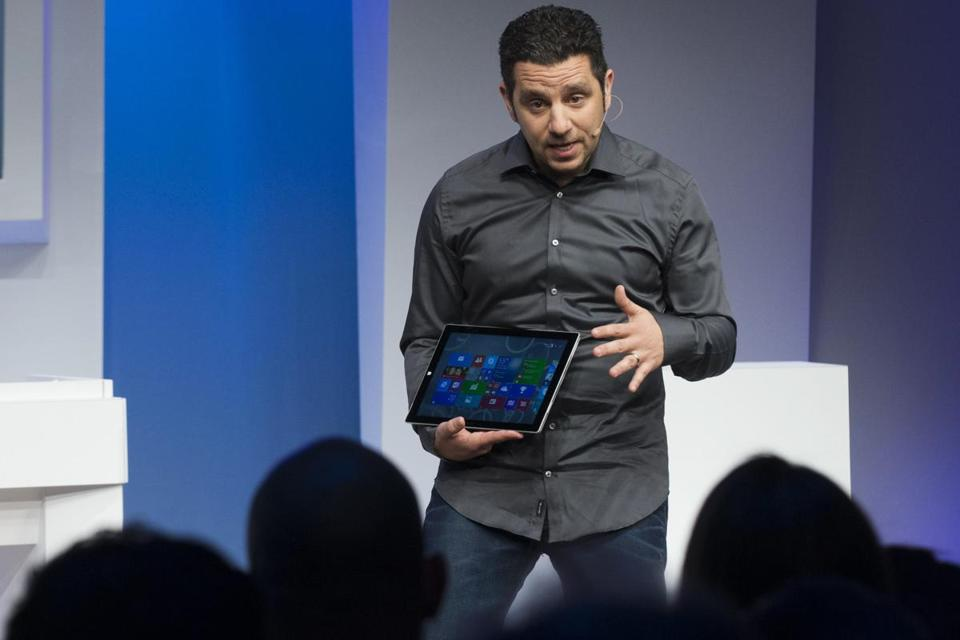 Panos Panay, corperate vice president for Surface Computing at Microsoft Corp, unveiled the latest models of the Surface tablet.