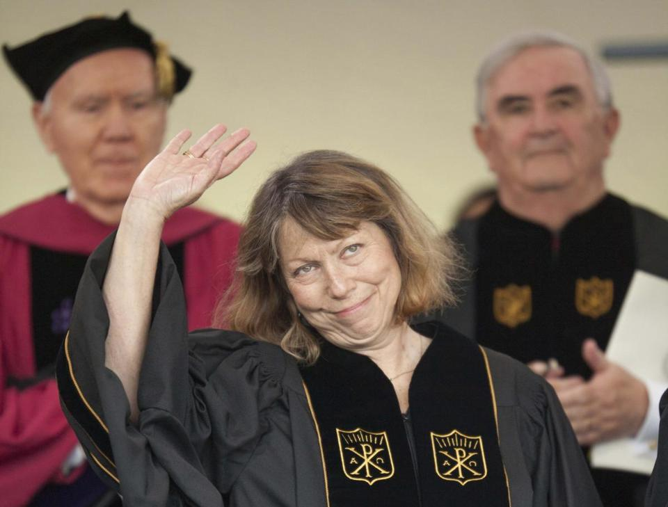 Jill Abramson gave the commencement address at Wake Forest University in May.