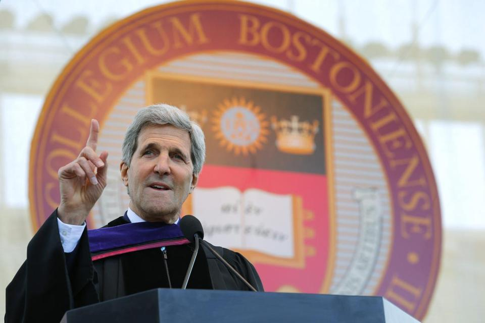 Secretary of State John Kerry spoke at Boston College's commencement.