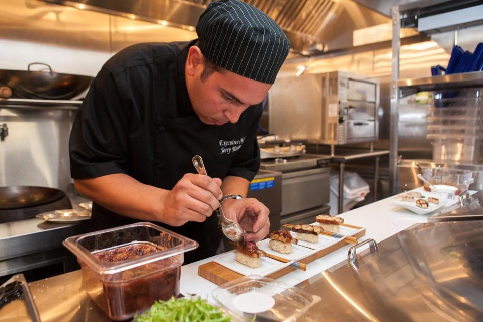 Executive chef  Jerry Marano will serve Asian- and North African- inspired small dishes.
