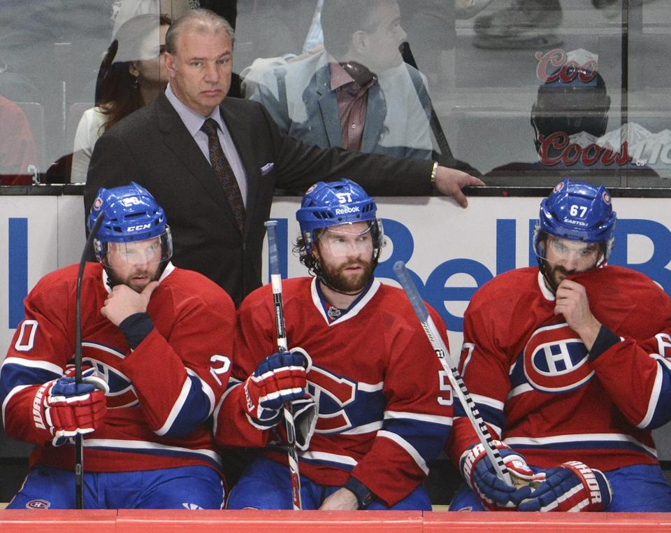 Montreal coach Michel Therrien watched his team fall into a 2-0 hole in the series with New York.