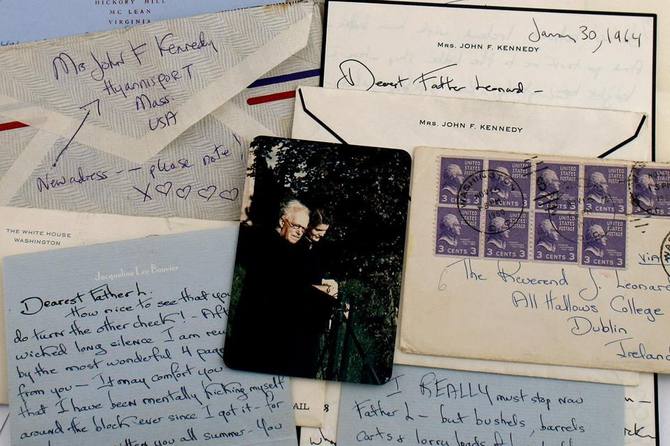 The letters are a trove of secret correspondence that Jacqueline Kennedy had over nearly 15 years with Father Joseph Leonard, an Irish priest.
